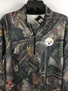 new product 8b4c4 00d14 Details about Men's PITTSBURGH STEELERS Majestic Military CAMOUFLAGE  Pullover Jacket Med.