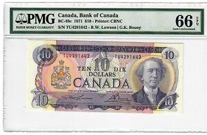 Canada-10-Dollars-Banknote-1971-BC-49c-PMG-GEM-UNC-66-EPQ