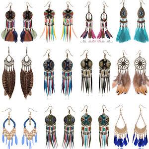 Women-039-s-Vintage-Bohemian-Earrings-Multi-Style-Tassel-Hook-Drop-Dangle-Party-Hot