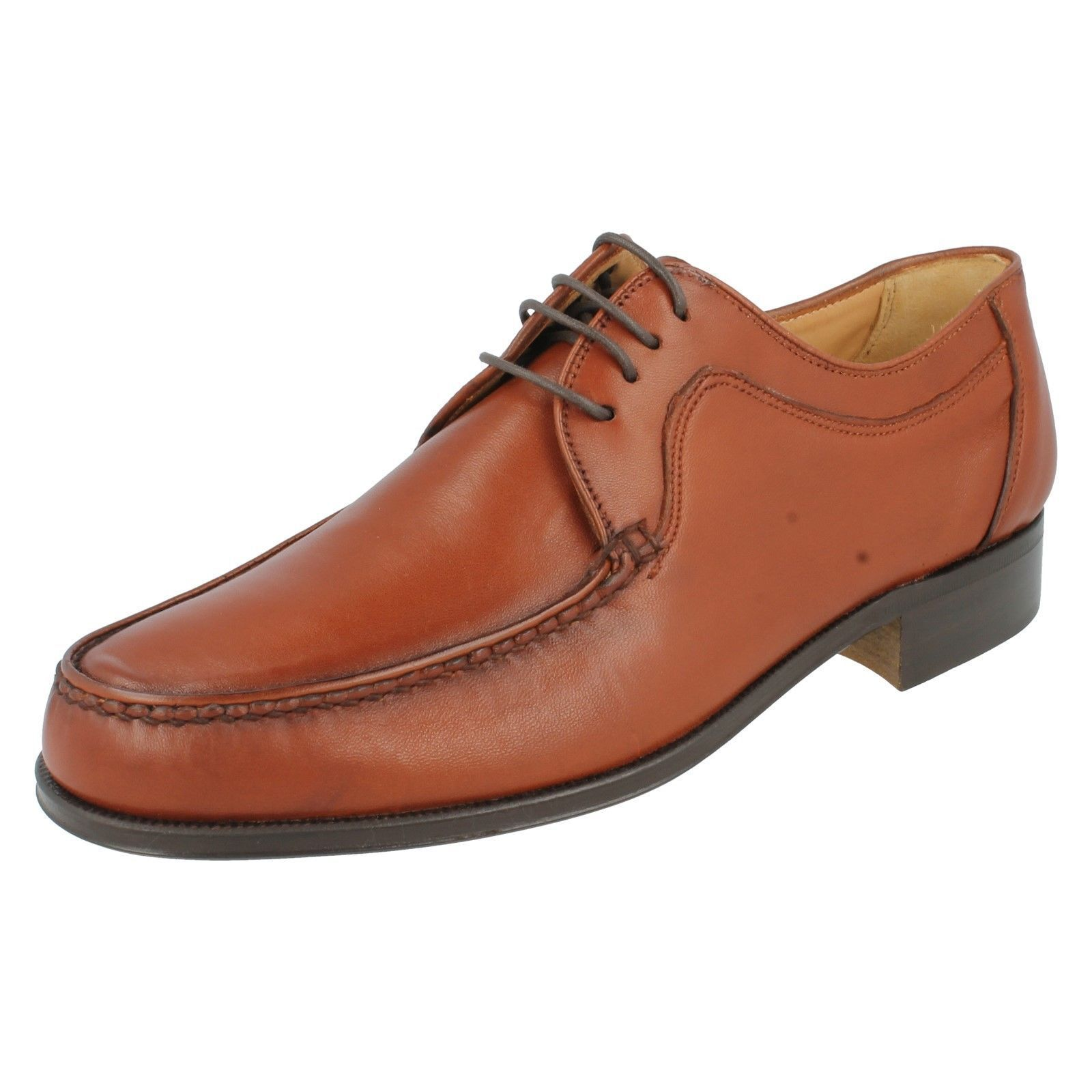 Hommes Grenson Cognac Leather Mocassins - Evan