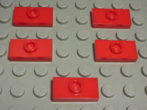 Lego placa convertidor 1x2 rojo 5 unidades (828)