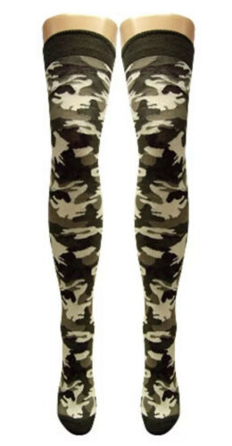 LADIES Tights OVER KNEE SOCKS //THIGH HIGH SOCKS//Sexy //UK Stock//Camo//Camouflage