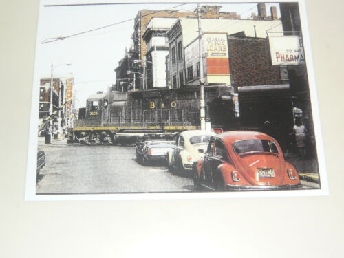 "PA RARE 1970/'S B/&O Railroad Crossing @ 5th Ave.- 8/""x11/"" Photo NM McKeesport"