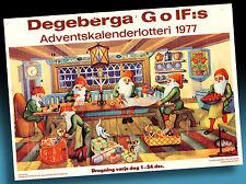 SCHÖNER ALTER ADVENTSKALENDER 1987 > WICHTEL WEIHNACHTSVERSAND > GOLF LOTTERIE 3