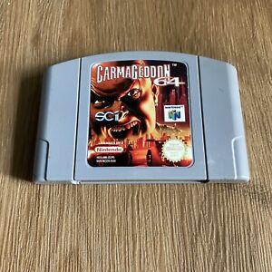 Carmageddon 64-Nintendo 64 N64-PAL-Cartucho únicamente
