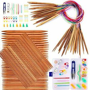 """Your Choice Of Size Ships From USA Bamboo Circular Knitting Needles 24/"""""""