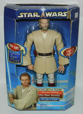Star Wars Obi-Wan Kenobi Electronic Figure 2002 HASBRO #84892, MODERATE WEAR
