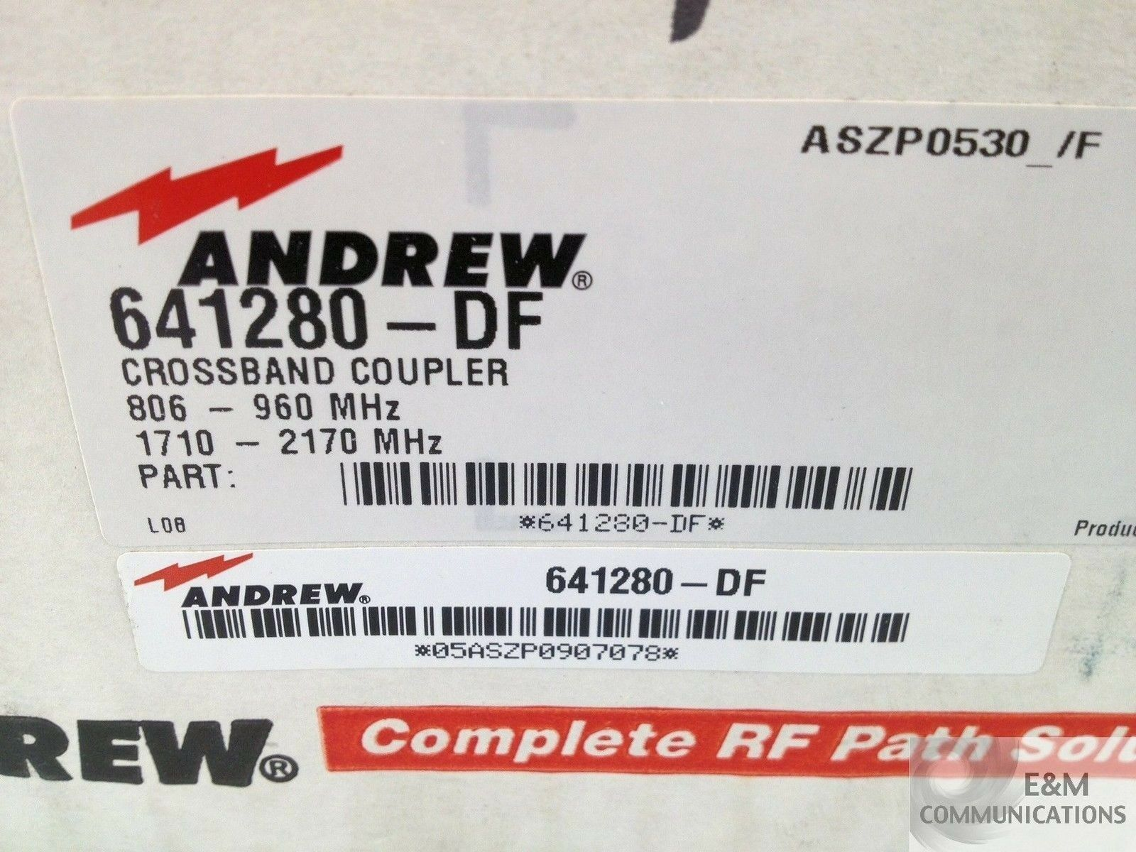 641280-DF ANDREW CROSSBAND COUPLER 806-960 MHz 1710-2170 MHz NEW OUT OF BOX