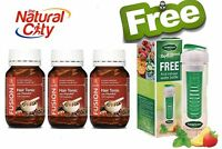 Fusion Hair Tonic 120 Caps X 3 Herbal Hair Loss +free Tea Infuser Water Bottle