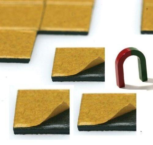 24,5mm x 24,5mm x 3,2mm selbstklebend Takkis 50 Stück Power-Magnetpunkte