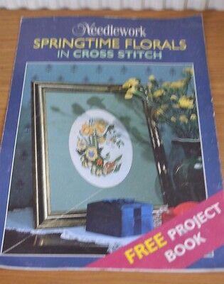 Costura * Primavera Florales En Cruz Puntada Folleto De Patrón * Claro Y Distintivo