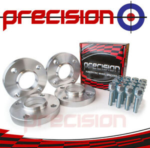 Spacers-20mm-Hubcentric-2-Pair-Bolts-Nuts-Peugeot-406-Aftermarket-Alloys