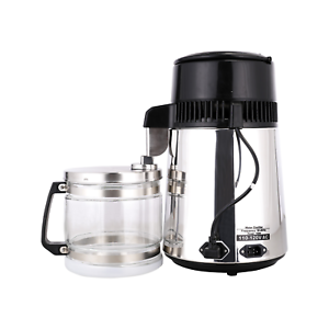 4L Home Water Distiller Purifier Machine Stainless Steel Glass Bottle