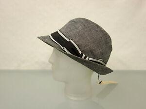 NEU-DOLCE-amp-GABBANA-Designer-Trilby-Hut-Gr-58-L-Seidenmischung-Grau-meliert-Hat