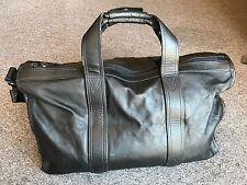 TUMI Leather Duffel Bag w/ Shoulder Strap - Soft Luggage