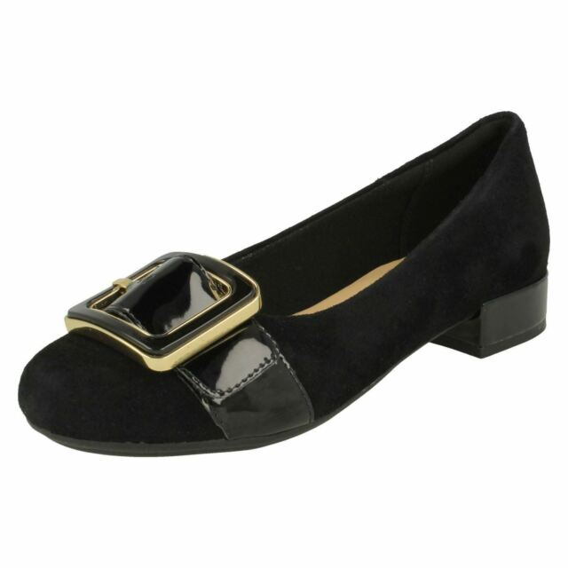 5c0ae11245d Ladies Clarks Slip on Low Heeled Shoes Rosabella Faye Black UK 7.5 D ...