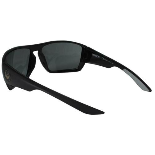 Dragon Cutback Sunglasses Shiny Black Frame with Smoke Lens 35141-001