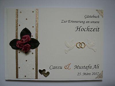 Analytisch Hardcover-gästebuch/fotoalbum, Erinnerung, Geschenk, Hochzeit, Creme/rot (dina4) QualitäT Und QuantitäT Gesichert