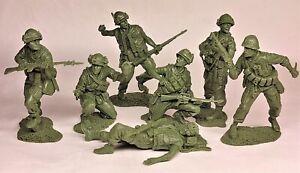Plastique peloton guerre du VIETNAM US MARINES Matériel en Caoutchouc 1/32 Set#1 7pcs