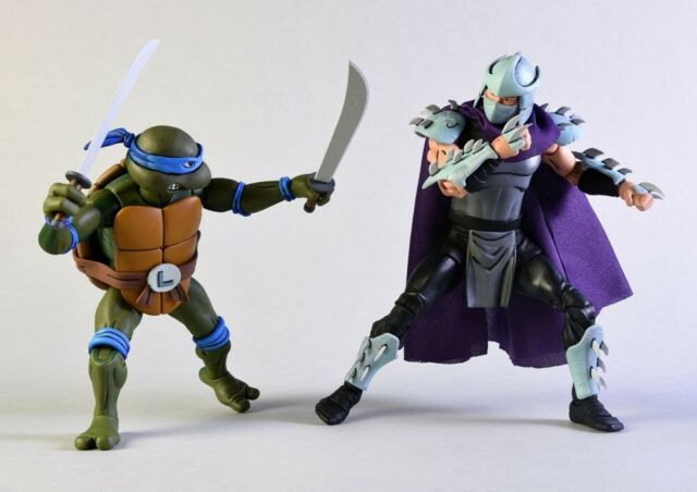 """4/"""" Teenage Mutant Ninja Turtles Movie Leonardo Action Figure with 2pcs Swords"""