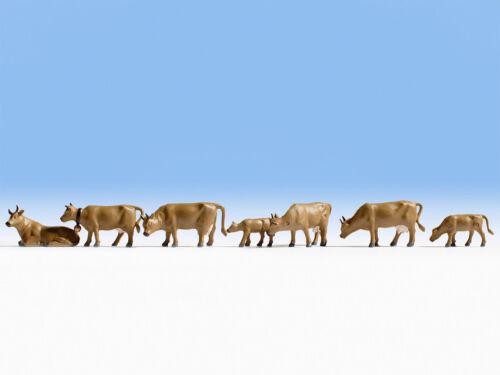 dunkelbraun  #NEU in OVP## Figuren Kühe NOCH 15722 Spur H0