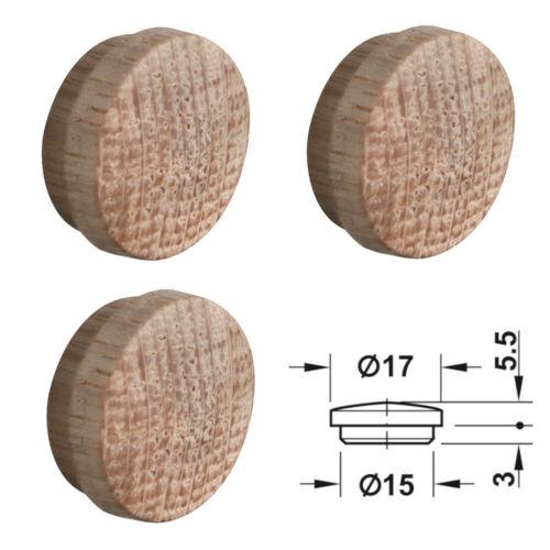 4x Cache trou bois pin chêne naturel vis plastique capuchon protection perçage