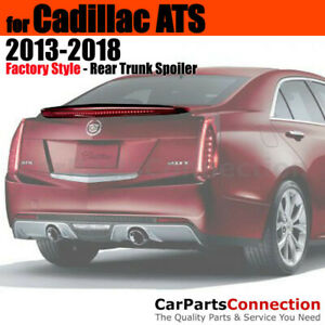 Primer ABS Rear Deck Trunk Spoiler Aero Wing For 13-18 Cadillac ATS Flush Mount