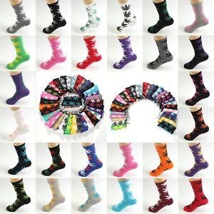 Fashion-Mens-Cotton-Socks-leaf-Casual-Long-Weed-Sock-7-12