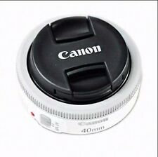 Canon EF 40mm F2.8 STM Pancake White Lens Digital Camera - Bulk package