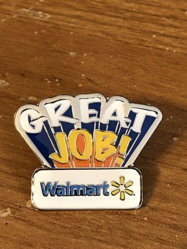 Rare Walmart Lapel Pin Great Job Wal-mart Pinback