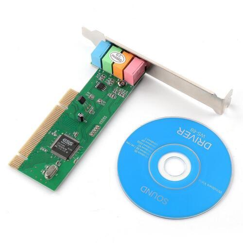 4 Channel 5.1 Surround 3D PCI Sound Audio Card For Windows 98SE//Me//2000//XP HQ