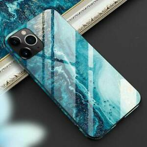 NEW-Abstract-Marble-Full-Tempered-Glass-Cover-Case-For-Apple-iPhone-11-Pro-Max