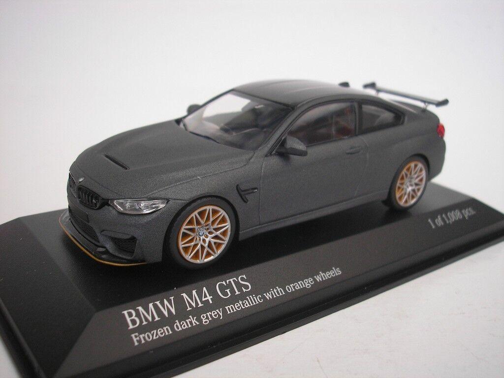 BMW M4 GTS 2016 Mate gris   Naranja Llantas 1 43 minichamps 410025220 Nuevo