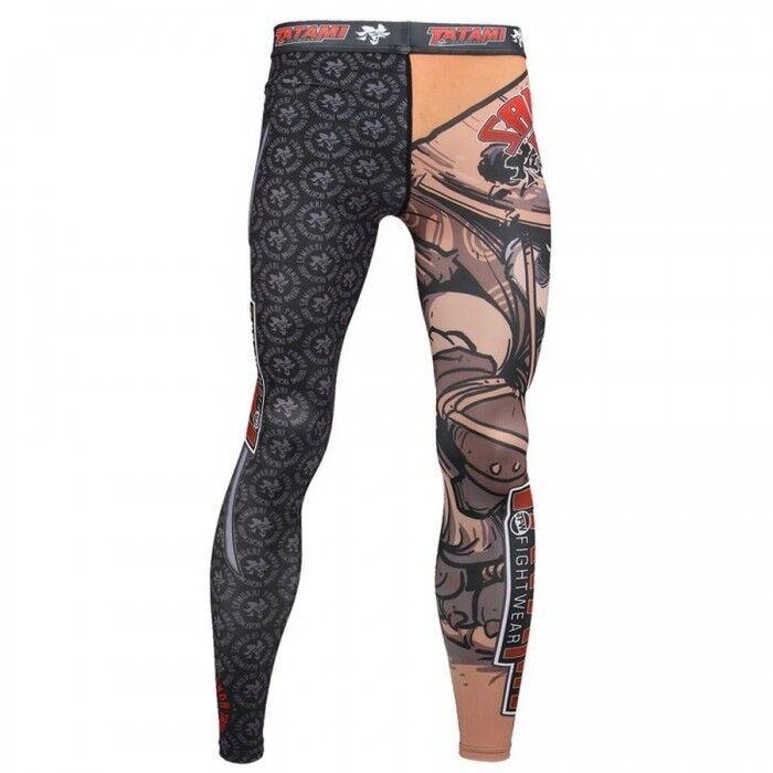 Tatami Compression Leggings Samurai Panda Spats, BJJ MMA Grappling Hose Leggings