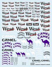 """NEW DECALS """" WEST / CAMEL """" TOUTES ECHELLES 19cm X 15cm - COLORADO DCD019"""