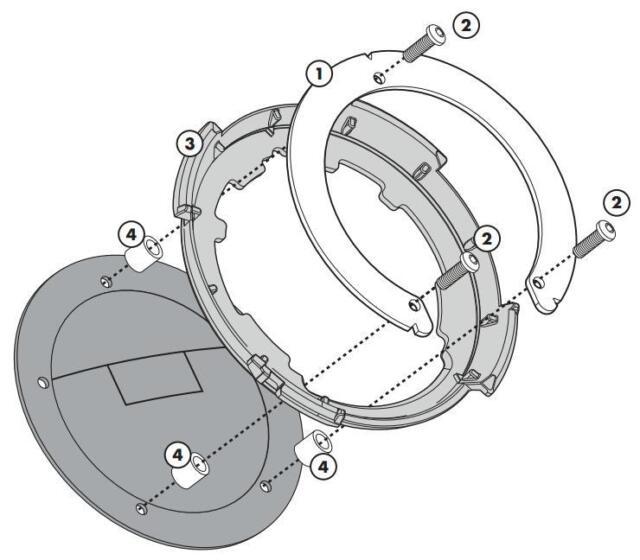 Givi Easy Lock Tankring/Tank Adapter BF30 for Honda CB 650 F Bj. 17