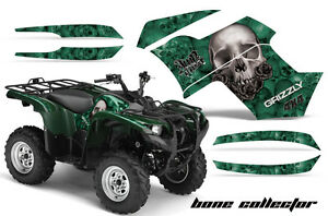 ATV-Graphics-Kit-Quad-Decal-Wrap-For-Yamaha-Grizzly-550-700-2007-2014-BONES-GRN