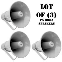 Pac Of (3) Pyle Phsp101t 9.7 In/out Door 20w Pa Horn Speaker W/ 70v Transformer on sale