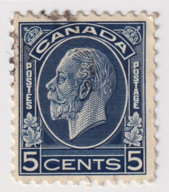 1932-1933 Canada - King George V - 5 Cent Stamp (b)