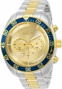 Invicta-Pro-Diver-Chronograph-Quartz-Gold-Dial-Men-039-s-Watch-30057
