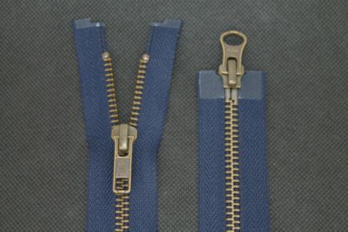 2 Wege YKK Reißverschluss 90 cm Lang Teilbar Metall Zähne Nummer 5 in Dunkelblau