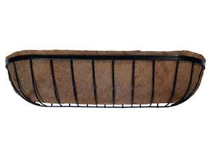 Bac jardiniere//mangeoire jardiniere-prelined avec coco liner.