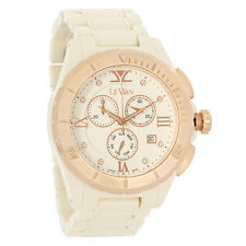 LeVian Ladies Diamond Ceramic Day/Date Swiss Chronograph Quartz Watch ZRPA 18