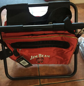 651cb91b75 Image is loading Jim-Beam-Folding-Camping-Stool-Cooler-Bag-NEW