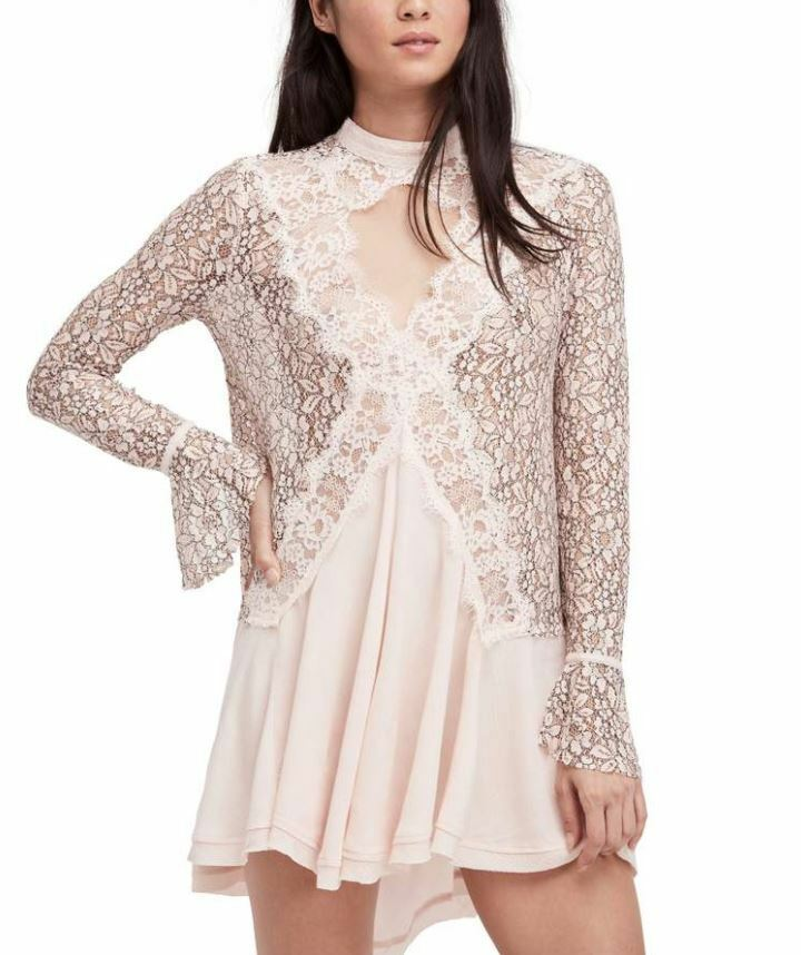 NEW FREE PEOPLE New Tell Tale Lace Minidress NWT Size Small
