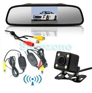 4 3 lcd tft auto spiegel monitor b4 funk kamera. Black Bedroom Furniture Sets. Home Design Ideas
