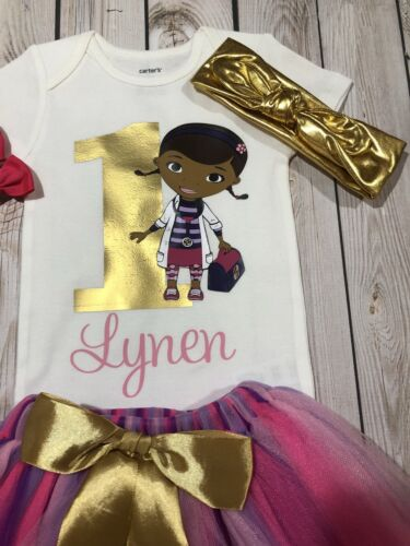 First Birthday Doc Mcstuffins outfit doc mcstuffins shirt Birthday outfit girl