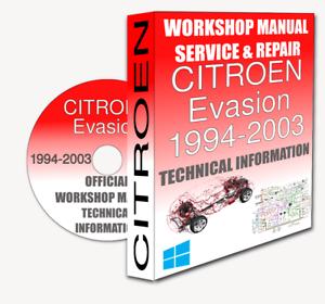Groovy Service Workshop Manual Repair Manual Citroen Evasion 1994 2003 Wiring Cloud Hisonuggs Outletorg