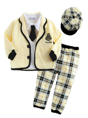 StylesILove Toddler Baby Boy Cute Yellow 5pcs Clothing Set