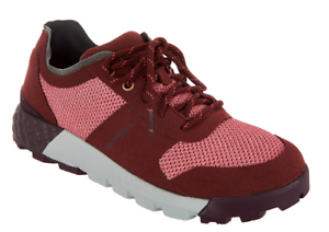 Merrell Mesh Lace-up Sneakers Women's Tennis shoes Solo AC+ Burgundy 6.5